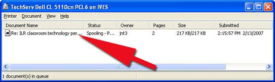 Quick Tips delete print printer window