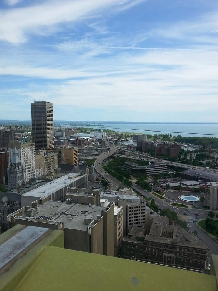 The view from the Buffalo City Hall Observation Deck