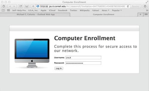 Mac computer enrollment
