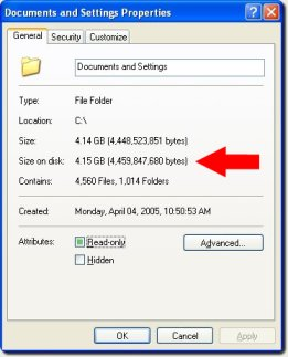 Documnets and Setting Properties dialog box