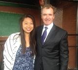 High Road Fellow Maria Chak with Congressman Brian Higgins