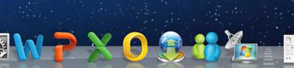 Microsoft Office icons on dock