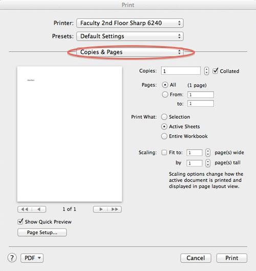 Print copies dialog box