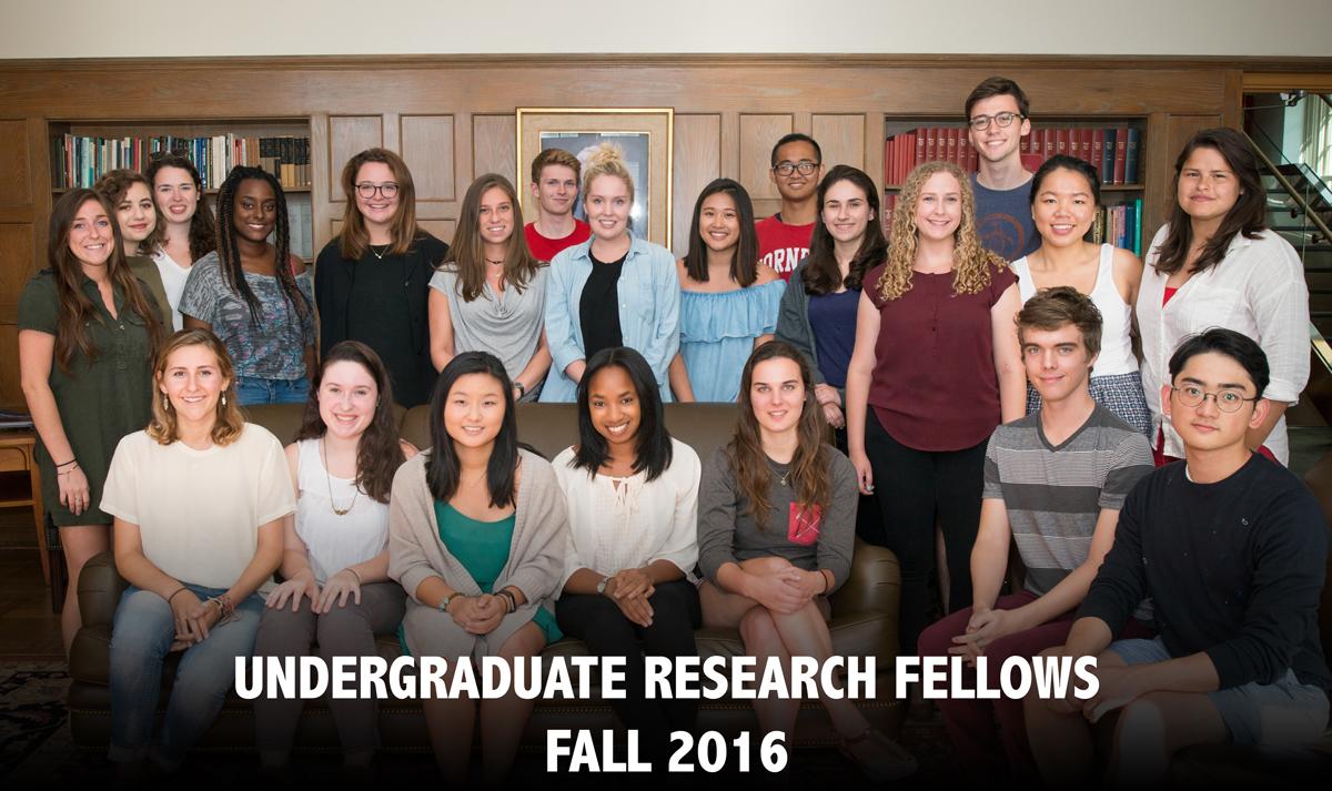 Undergraduate Research Fellows - Spring 2016