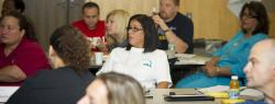 Leader from the Council of School Supervisors & Administrators (CSA) listens attentively at a Union Leadership Institute training