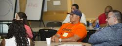 Leader from LiUNA listens attentively at a Union Leadership Institute training