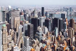 NYC skyline in the neighborhood of 570 Lexington Ave.