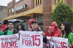 Campaign for higher wages attracting support, Bronfenbrenner says