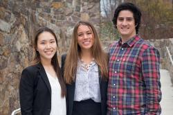 Andrea Kim, Kendall Grant and Connor Riser