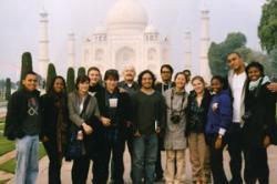 Ray Mensah, BSILR'11, accompanies the MOAAP to India