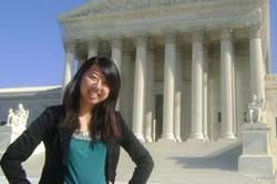 Yu '12  interns at U.S. Supreme Court