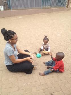 Gabrielle Hickmon with children