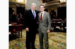 Senator Michael F. Nozzolio and Senator David Carlucci