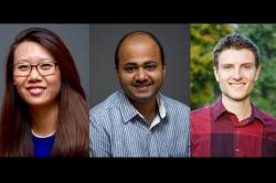 Nellie Zhao Ph.D. '16, Tirupam Goel Ph.D. '16 and Jason Cook Ph.D. '16