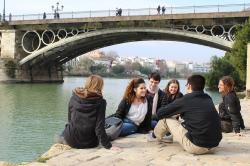 Students on international experience trip