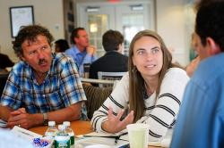 Lara Skinner of The Worker Institute speaks with labor leaders