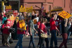 Minimum wage rally