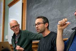 From left, Allen Carlson, associate professor of government and chair of the China and Asia Pacific Studies (CAPS) Program; Eli Friedman, associate professor in the ILR School; and Andrew Mertha, professor of government, discuss the Chinese Communist Part
