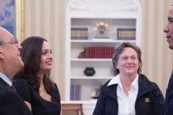 Patricia Moscoso meets with President Obama