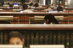 Students studying in Catherwood Library