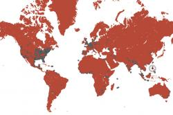Digital Commons global usage map