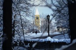 Photo: Cornell campus in winter