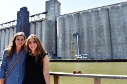 2017 High Roaders Vanessa Roga and Hannah Sosenko at Silo City