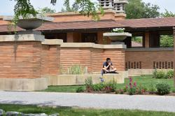 2017 High Road Fellow Nathanael Cheng at Frank Lloyd Wright's Darwin Martin House