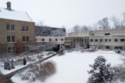 Photo: Snowy Courtyard