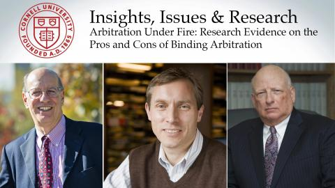 Arbitration Under Fire: Research Evidence on Pros and Cons of Binding Arbitration