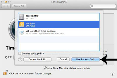 Time Machine back up disk