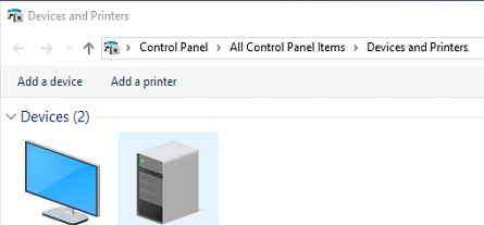 add a printer dialog box in windows 10